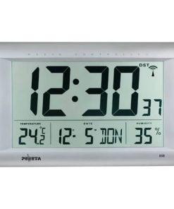 Funk-Digitalwanduhr m. großem LCD-Display