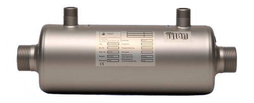 Schwimmbadwärmetauscher TWT 93 aus Titan