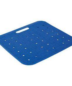 Kunststoff-Sitzunterlage für s Dampfbad - blau