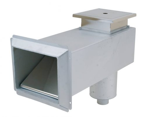 Pahlen Edelstahl-Langhalsskimmer Folie bis 440 mm Wandstärke