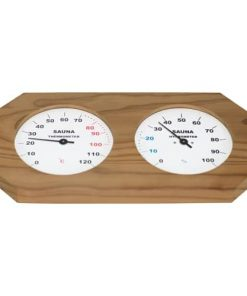 Sauna-Hygrotherm glatt in Holz