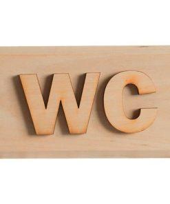 """Holzschild """"WC"""" - Erle"""