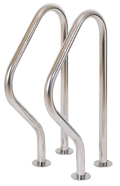 INA 2-teilige Edelstahl-Einbauleiter 4-stufig für Pools aus Edelstahl V2A