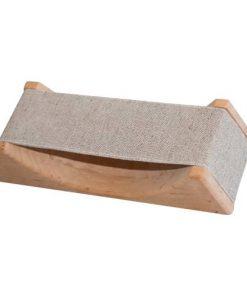 Textilkopfstütze Erle - Bespannung beige-grau