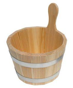 Sauna-Kübel 5 l - Griffdaube - Lärche natur