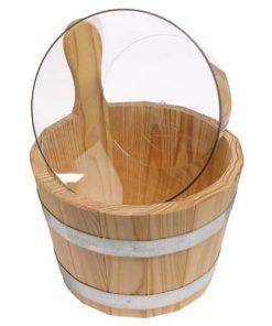 Sauna-Kübel 5 l - Griffdaube - mit 4