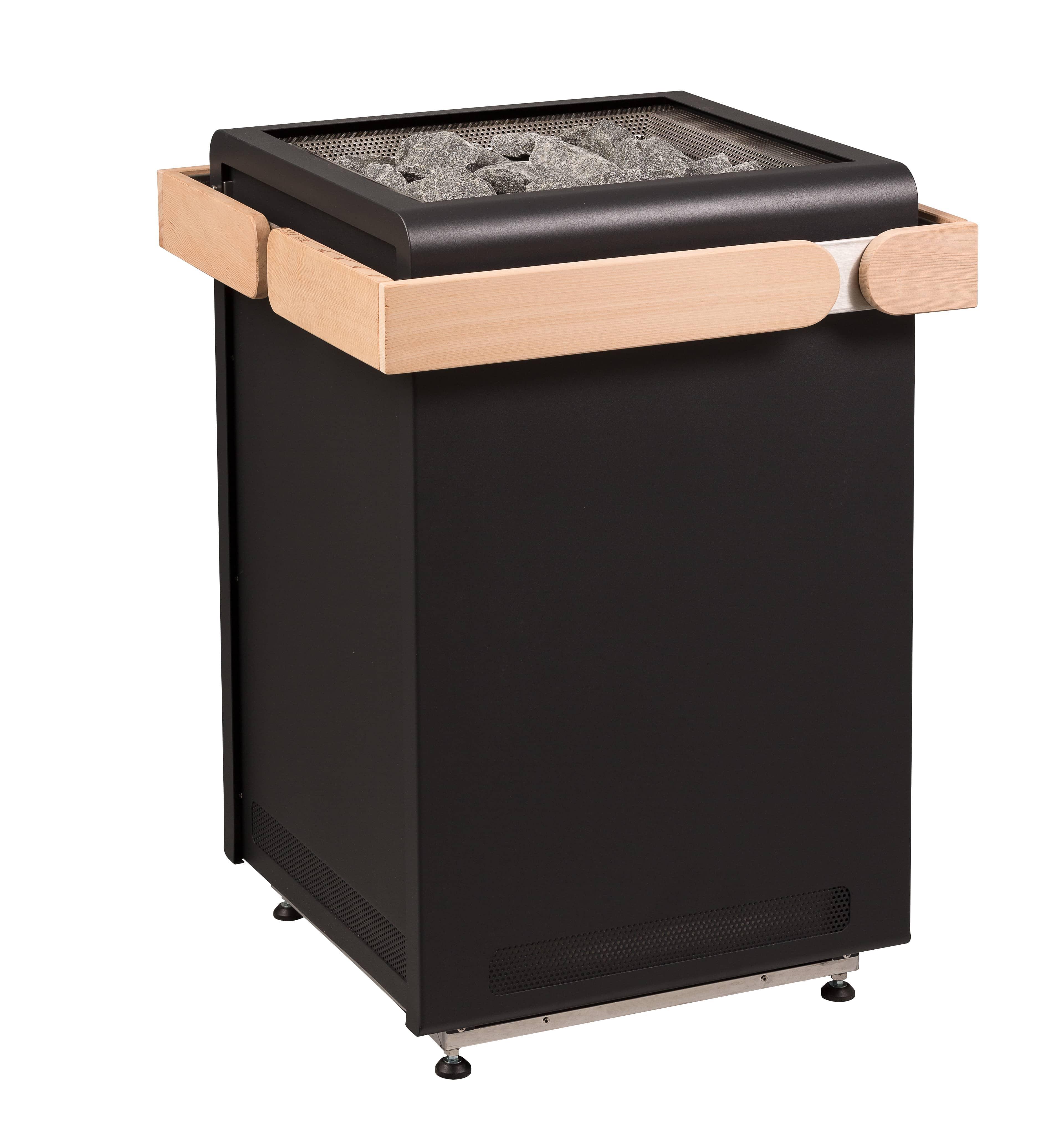 concept r black sauna ofen 10 5 kw von sentiotec g nstig bei. Black Bedroom Furniture Sets. Home Design Ideas